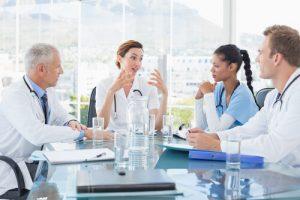 health professionals talking