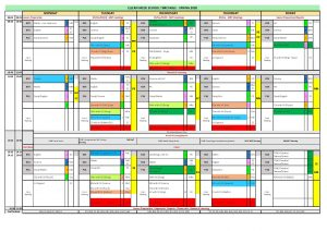 Sample school timetable